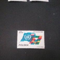 Sellos: SELLOS R. POLONIA (POLSKA) MTDOS. 1985. O.N.U. ANIVERSARIO. BANDERAS. EMBLEMA.. Lote 125892028