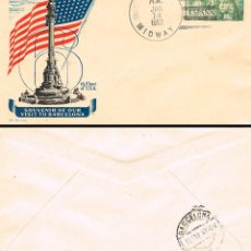 Sellos: AÑO 1953, MATASELLOS DEL USS MIDWAY EN LA VISITA DE LA FLOTA USA A BARCELONA DEL 14-1-1953 ALFIL . Lote 127454491