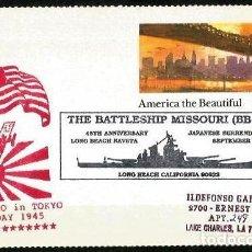 Sellos: USA 1990 ACORAZADO MISSOURI RENDICION DE JAPON. Lote 128410311