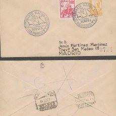 Sellos: AÑO 1948, VII CENTº DE LA MARINA ESPAÑOLA, ALMIRANTE BONIFAZ MATASELLO BURGOS, SOBRE CIRCULADO. Lote 128639779