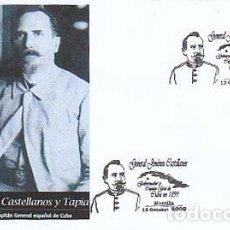 Sellos: AÑO 2009, GENERAL JIMENEZ CASTELLANO, ULTIMO GOBERNADOR DE CUBA, MATASELLO DE MONTILLA (CORDOBA). Lote 133338034