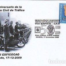 Timbres: AÑO 2009, 50 ANIVERSARIO DE LA GUARDIA CIVIL DE TRAFICO, MATASELLO DE OVIEDO. Lote 133338178