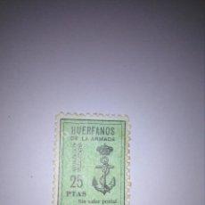 Sellos: SELLO 25 PESETAS - HUÉRFANOS DE LA ARMADA. Lote 133983914