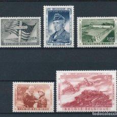 Sellos: SELLOS BELGICA 1957 Y&T 1032/6** HOMENAJE AL GENERAL PATTON. Lote 135772026