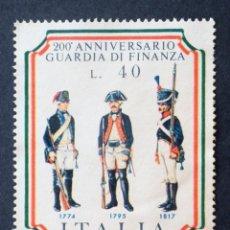 Sellos: 1974 ITALIA UNIFORMES MILITARES. Lote 139236194