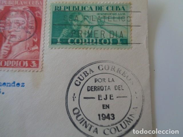 Sellos: CUBA. QUINTA COLUMNA. POR LA DERROTA DEL EJE. II GUERRA MUNDIAL. 1943. FRONTAL - Foto 2 - 139542810