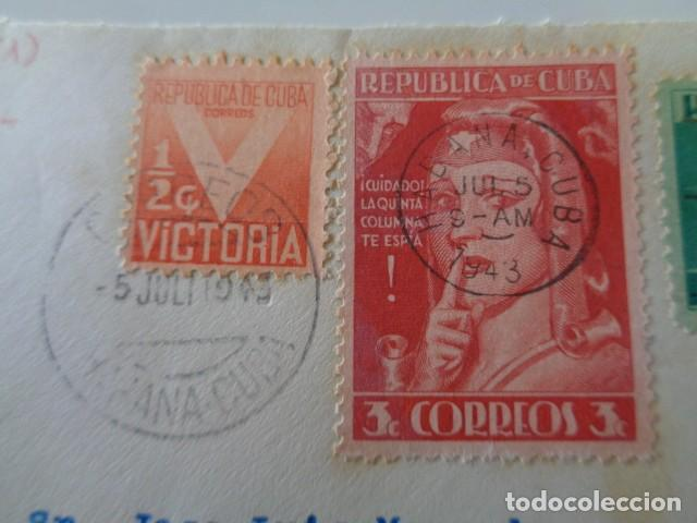 Sellos: CUBA. QUINTA COLUMNA. POR LA DERROTA DEL EJE. II GUERRA MUNDIAL. 1943. FRONTAL - Foto 3 - 139542810