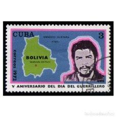 Timbres: CUBA 1972. MI 1813, YT 1615. MILITARES. ERNESTO CHE GUEVARA. USADO. Lote 141435462
