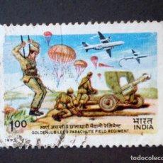 Timbres: 1993 INDIA 50 ANIVERSARIO 9º REGIMIENTO PARACAIDISTAS. Lote 141564706