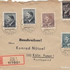 Sellos: SOBRE: 1944 PRAHA ( PRAGA ) - KOLN ( COLONIA - ALEMANIA ) SELLOS NAZIS ( CECHY-MORAVA ). Lote 143822374