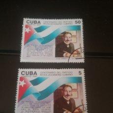 Sellos: SELOOS R. CUBA MTDAS/1992/100 ANIV. PARTIDO REVOLUCIONARIO CUBANO/FAMOSOS/BANDERAS/TEXTOS/LIBROS. Lote 143890616