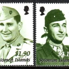 Sellos: SELLOS SOLOMON ISLANDS 2002 60TH ANNIVERSARY OF THE WWII GUADALCANAL CAMPAIGN . Lote 145291494