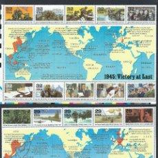 Sellos: SELLOS ESTADOS UNIDOS USA 1995 WWII WORLD WAR II 2 HOJAS. Lote 149700558