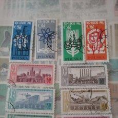 Sellos: SELLOS DE POLONIA (POLSKA) MTDOS/1964/INDUSTRIAS/EMBLEMA/PETROLEO/AGRICULTURA/FLOR/TRANSPORTES/ANIMA. Lote 150113560