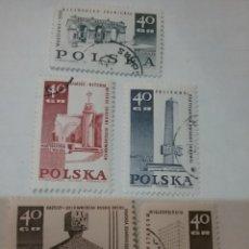 Sellos: SELLOS R. POLONIA (POLSKA) MTDOS/1968/MEMORIALES MUERTOS II GUERRA MUNDIAL/MONUMENTOS/ARTE/MILITAR/A. Lote 150182097