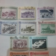 Sellos: SELLOS R. POLONIA (POLSKA) MTDOS/1968/25 ANIV. EJERCITO PUEBLO POLACO/AVIONES/TANQUES/BARCO/CABALLOS. Lote 150182213