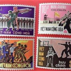 Sellos: VIETNAM SUR. 359/62 MOVILIZACIÓN GENERAL: RECRUTAMIENTO, OBREROS Y SOLDADOS, EJÉRCITO. 1969. SELLOS. Lote 150264106