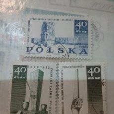 Sellos: SELLOS R. POLONIA (POLSKA) MTDOS/1967/MEMORIALES MUERTOS II GUERRA MUNDIAL/ATQUITECTURA/ARTE/MILITAR. Lote 150305389
