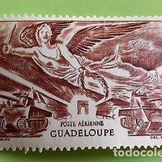 Sellos: GUADALUPE. A 6 ANIVERSARIO DE LA VICTORIA: ARCO DEL TRIUNFO, CARROS DE COMBATE Y VICTORIA. 1946. SEL. Lote 151960570