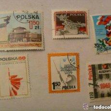 Sellos: LOTE DE 6 SELLOS DE POLONIA ( EPOCA COMUNISTA ): TEMA MILITAR, FIN GUERRA MUNDIAL, PATRIOTICO, ETC. Lote 152322106