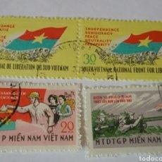 Sellos: SELLOS VIETCONG (VIETNAM NORTE) MTDOS/1968/8 ANIV. F.N.L/AVIONES GUERRA/ARMAS/BANDERAS/VOTAR/SOLDADO. Lote 158067746