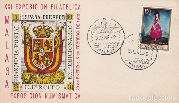 AÑO 1972, MALAGA, HOMENAJE AL EJERCITO, EL CENACHERO (Sellos - Temáticas - Militar)