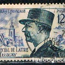 Sellos: FRANCIA IVERT Nº 982, MARISCAL LATRE DE TASSIGNY (2ª GUERRA MUNDIAL), USADO. Lote 170838790