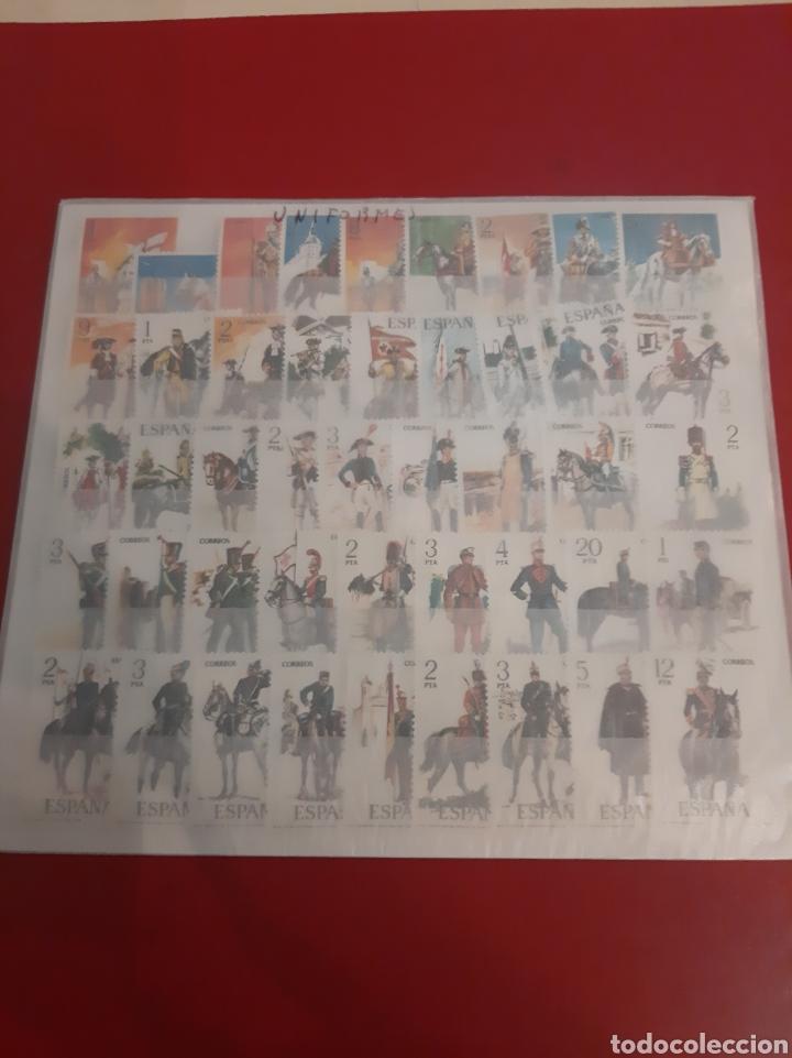 UNIFORMES MILITARES ESPAÑA SERIES 1973/1978 SERIES NUEVAS PERFECTAS INCLUYENDO TODAS SERIES (Sellos - Temáticas - Militar)