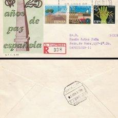 Sellos: EDIFIL 1576, CONMEMORATIVO DE LOS 25 AÑOS DE PAZ, FIN DE LA GUERRA CIVIL, SFC CIRCULADO. Lote 179175853