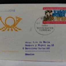Sellos: ALEMANIA DEMOCRATICA. FDC 1723. 20 ANIV. PACTO DE VARSOVIA. MILITAR. Lote 182274988