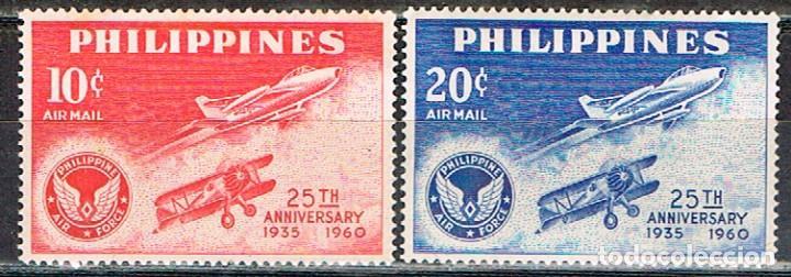 FILIPINAS Nº 660/1, 25 ANIVERSARIO DE LA FUERZA AÉREA DE FILIPINAS, NUEVOS ** (Sellos - Temáticas - Militar)