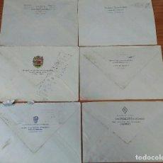 Sellos: 6 SOBRES CON MEMBRETE DEL EJERCITO Y GUADIA CIVIL. VER DESCRIPCION. Lote 185081842