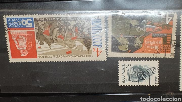 Sellos: Lote de 17 sellos antiguos CCCP bélicos años 60. - Foto 3 - 189373361