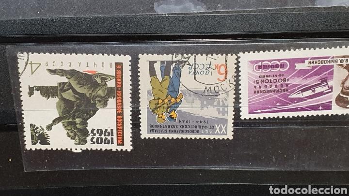 Sellos: Lote de 17 sellos antiguos CCCP bélicos años 60. - Foto 7 - 189373361