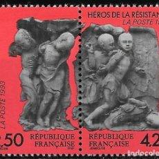 Sellos: A FACIAL! HÉROES DE LA RESISTENCIA 2ª GUERRA MUNDIAL. FRANCIA 1993. NUEVO MNH. Lote 189482495