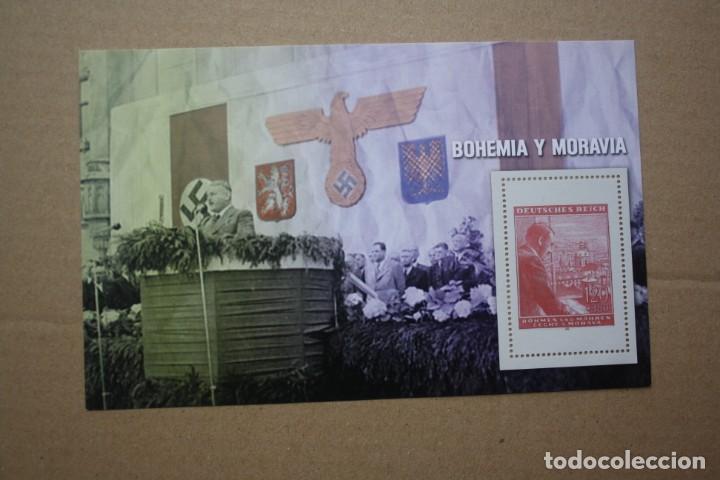 HOJA BLOQUE COLECCION SELLOS 70 ANIVERSARIO SEGUNDA GUERRA MUNDIAL. BOHEMIA Y MORAVIA (Sellos - Temáticas - Militar)
