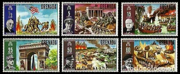 GRENADA 1970 ANIVERSARIO II GUERRA MUNDIAL (Sellos - Temáticas - Militar)