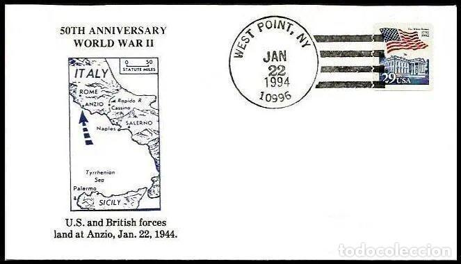 USA 1994 II WW DESEMBARCO EN ANZIO (Sellos - Temáticas - Militar)