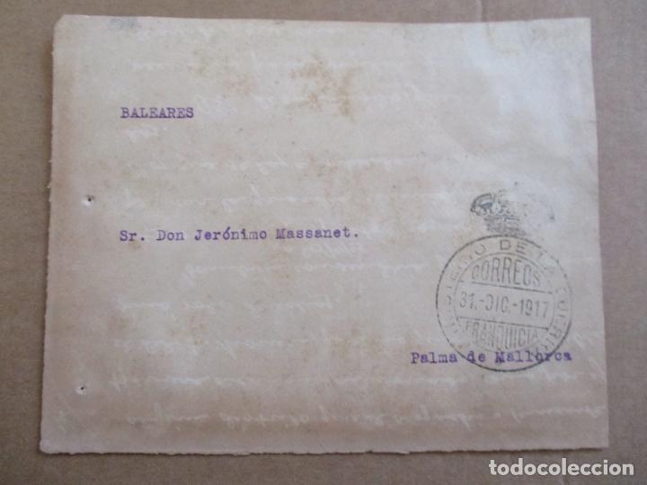 FRONTAL FRANQUICIA MINISTERIO DE LA GUERRA CIRCULADA 1917 DE MADRID A PALMA DE MALLORCA (Sellos - Temáticas - Militar)