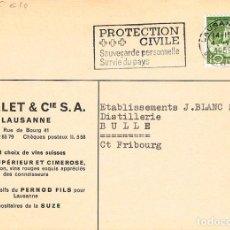 Sellos: SUIZA, PROTECCION CIVIL. SALVAGUARDIA PERSONAL, SERVICIO AL PAIS, MATASELLO DE 4-8-1959. Lote 193956138