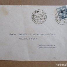 Sellos: CIRCULADA 1947 ESCUELA MILITAR DE MARIN PONTEVEDRA A TORRELAVEGA SANTANDER. Lote 194508980