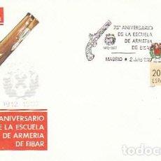 Sellos: EDIFIL 2907, 75 ANIVº DE LA ESCUELA DE ARMERIA DE EIBAR, PRIMER DIA DE EIBAR 2-7-1987 SFC. Lote 195486516