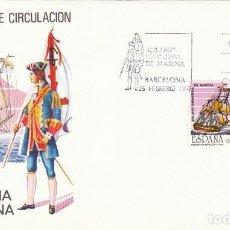 Sellos: EDIFIL 2885, 450 ANIVERSARIO DE LA CREACION INFANTERIA DE MARINA, PRIMER DIA DE 25-2-1987 SFC. Lote 195486642