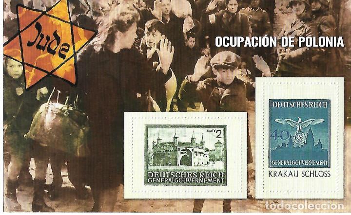 HOJA BLOQUE COLECCION SELLOS 70 ANIVERSARIO SEGUNDA GUERRA MUNDIAL. OCUPACION DE POLONIA (Sellos - Temáticas - Militar)