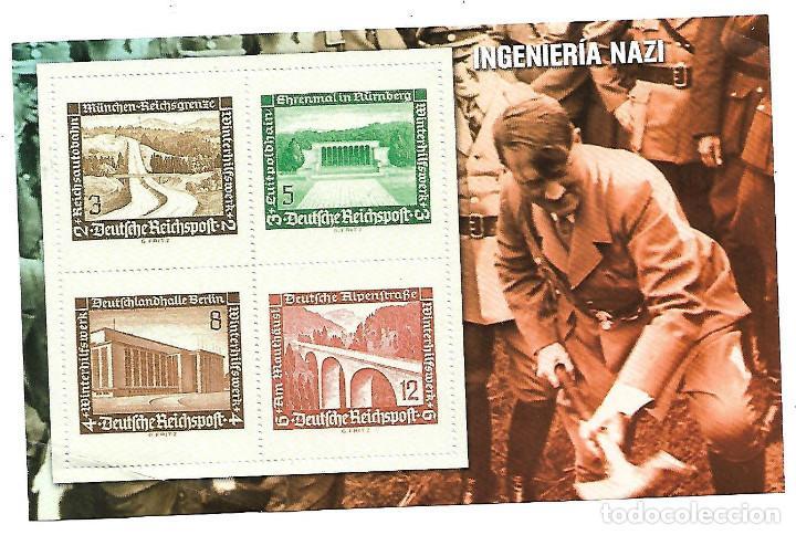 HOJA BLOQUE COLECCION SELLOS 70 ANIVERSARIO SEGUNDA GUERRA MUNDIAL. INGENIERIA NAZI (Sellos - Temáticas - Militar)