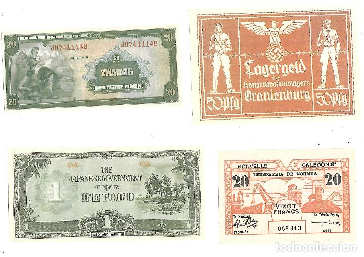 Sellos: BILLETES DE LA COLECCION 70 aniversario de la II guerra mundial. Sellos y Billetes. - Foto 2 - 197826920