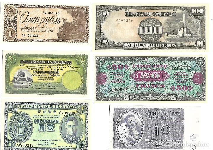 Sellos: BILLETES DE LA COLECCION 70 aniversario de la II guerra mundial. Sellos y Billetes. - Foto 3 - 197826920