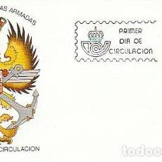 Sellos: EDIFIL 2659, DIA DE LAS FUERZAS ARMADAS EN ZARAGOZA, PRIMER DIA DE 28-5-1982 EN SOBRE DEL SFC. Lote 200660917