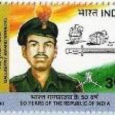 Timbres: INDIA 2000 50 ANIVERSARIO DE LA REPUBLICA INDIA. Lote 201153587