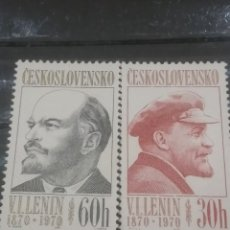 Sellos: SELLOS R. CHECOSLOVAQUIA NUEVO/1970/I CENT/NACIMIENTO/LENIN/RETRATO/COMUNISMO/POLITICO/GENTE/MILITAR. Lote 203542055